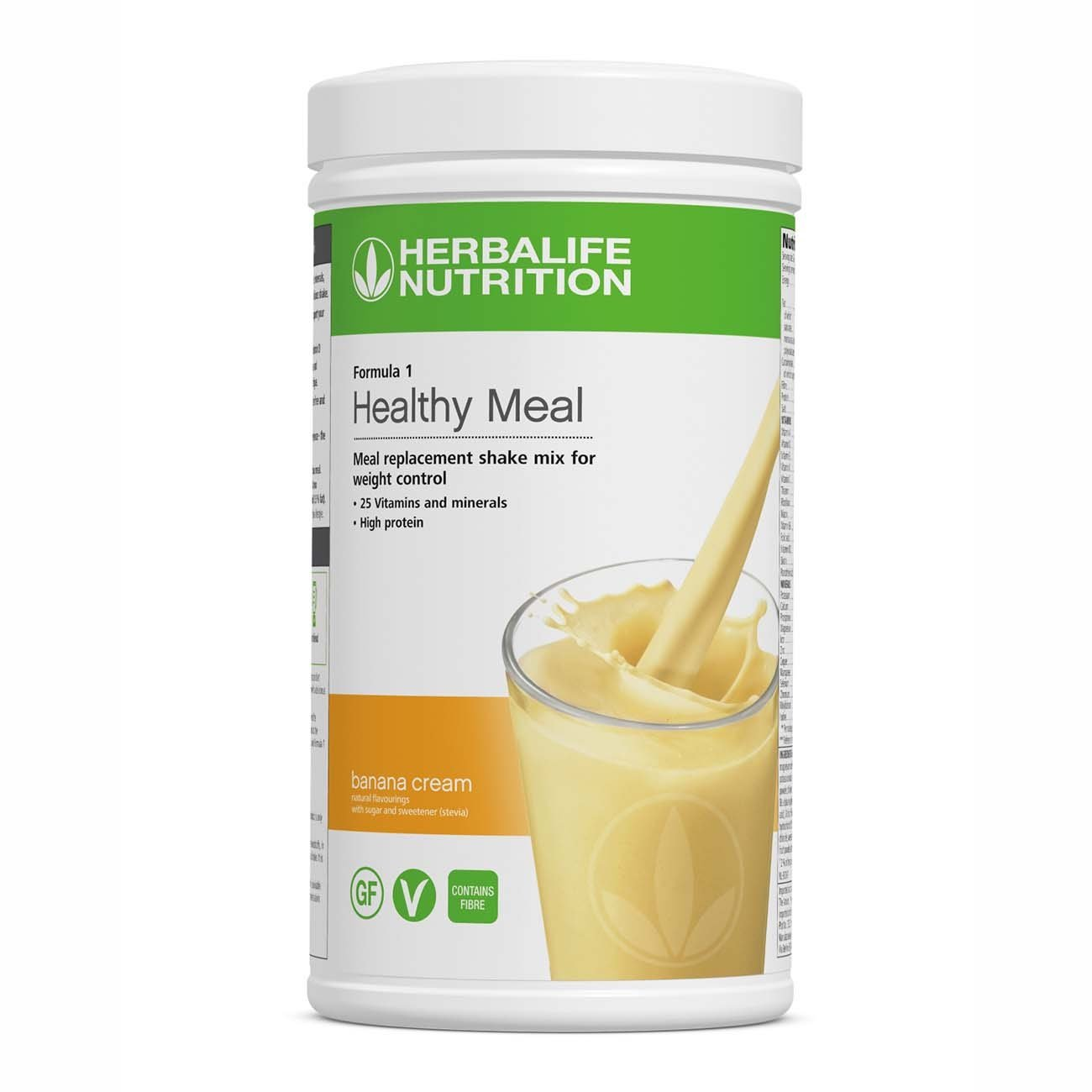 Herbalife Formula 1 - Banana Cream - Meal Replacement Protein Shake for Weight Loss (550g) - HerbaBOX
